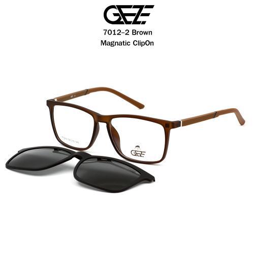 กรอบแว่นตากรองแสงและถนอมสายตา GEZE รุ่น  7012-2 BROWN