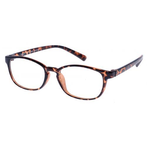 แว่นตา Eyelucy ( รุ่น DS011-LEO ) เต็มกรอบสีน้ำตาลลายกะ  ขาสีน้ำตาลลายกะ  น้ำหนักเบา ยืดหยุ่นสูง