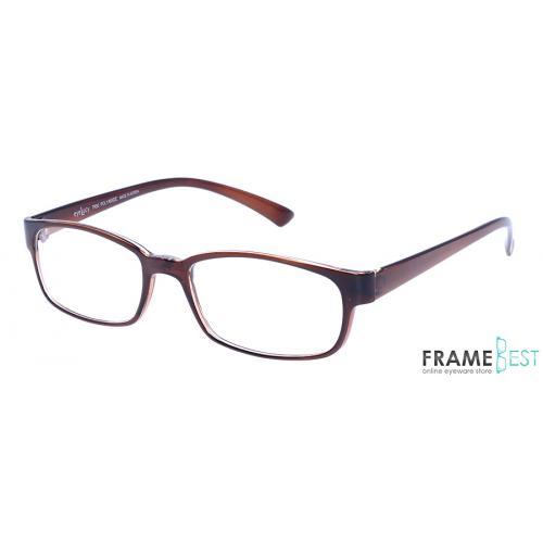 แว่นตา Eyelucy ( รุ่น DS044-B ) เต็มกรอบสีน้ำตาล ขาสีน้ำตาล  น้ำหนักเบา ยืดหยุ่นสูง