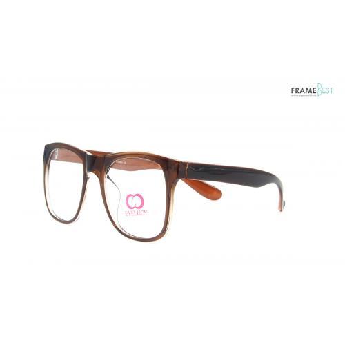 แว่นตา Eyelucy ( รุ่น DS076-C2 ) เต็มกรอบสีน้ำตาล  น้ำหนักเบามาก ยืดหยุ่นสูงมาก