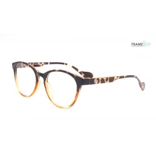 กรอบแว่นตา Eyelucy ( รุ่น SN220-2 ) เต็มกรอบสีน้ำตาลเข้มลายกะ ขาสีน้ำตาล น้ำหนักเบามาก ยืดหยุ่นสูง น่ารักมากมาย